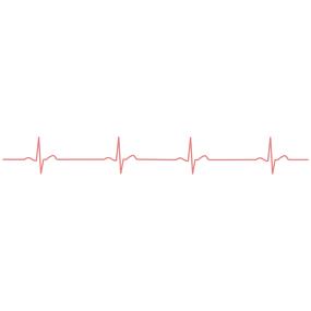 心電図の波形のライン