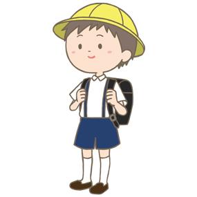 小学生男子のイラスト