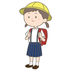 小学生女子のイラスト