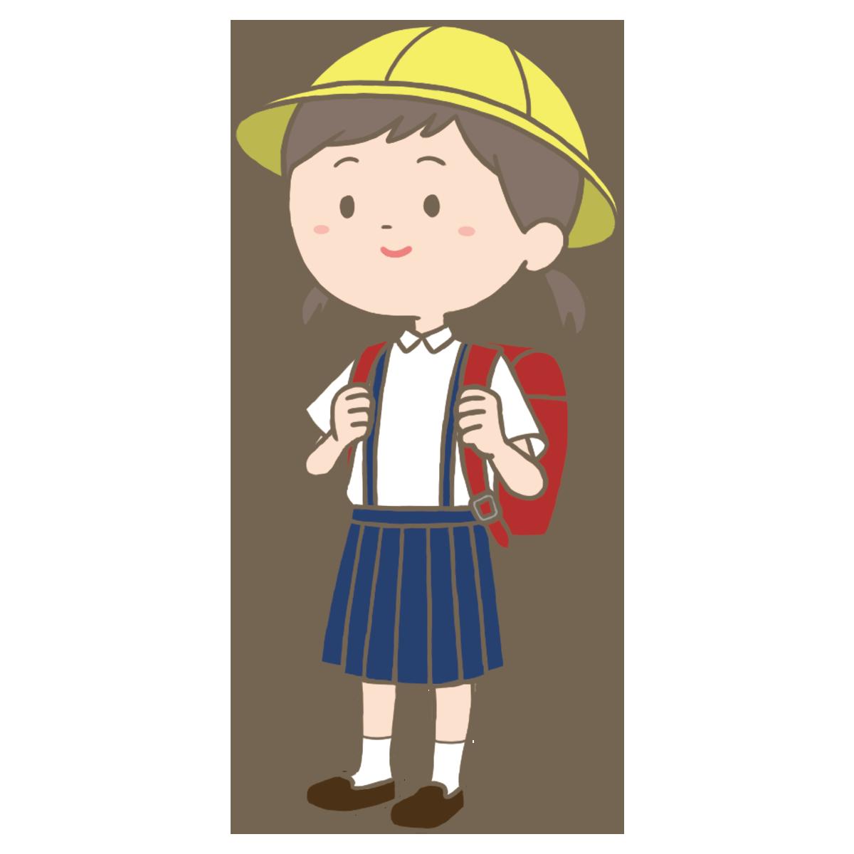 小学生女子のイラストフリー素材看護rooカンゴルー