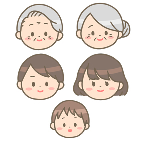 家族の顔のイラスト