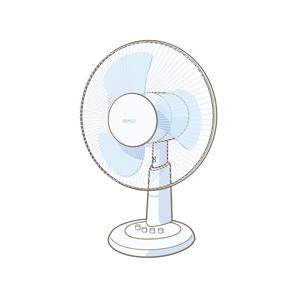 扇風機のイラスト🎨【フリー素材】|看護roo![カンゴルー]