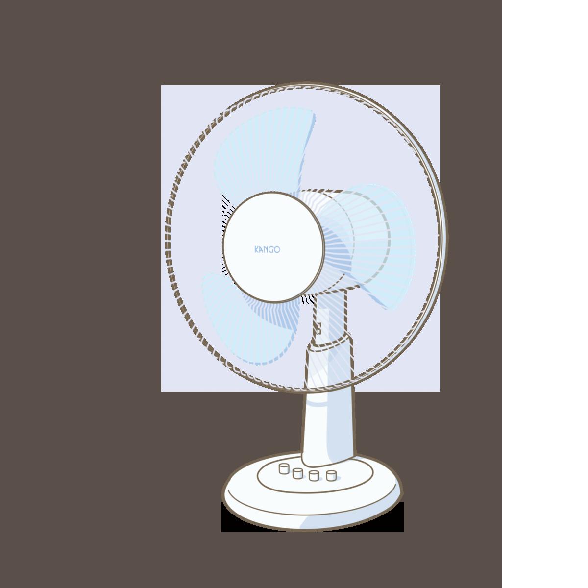 扇風機のイラストフリー素材看護rooカンゴルー