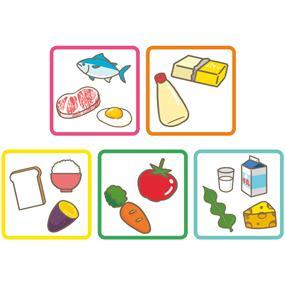 五大栄養素のイラスト