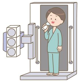 胃がん検診(バリウム検査)のイラスト
