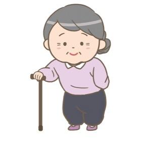 杖をついているおばあさんのイラスト フリー素材 看護roo カンゴルー