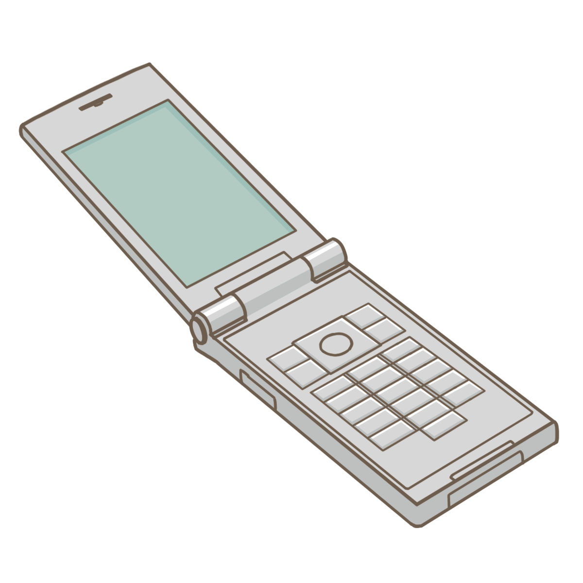 携帯電話のイラストフリー素材看護rooカンゴルー