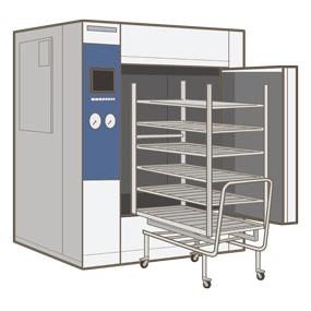 高圧蒸気滅菌器(大型)のイラスト