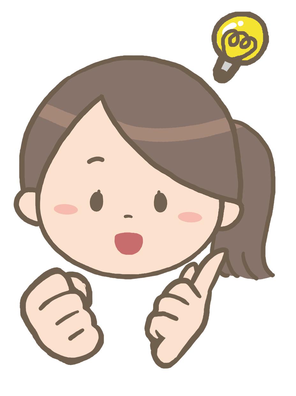 ひらめいた表情の看護師のイラスト※顔のみ?【フリー素材】 看護roo