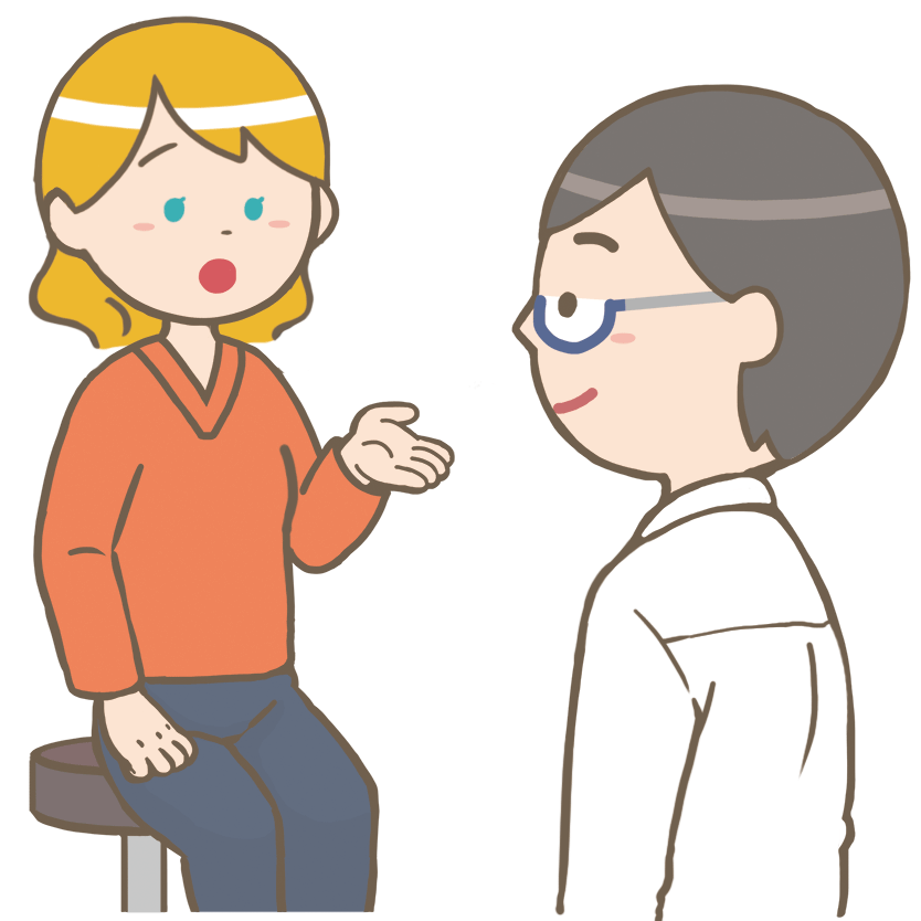 Interview doctor patient international caucasians rady