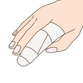 突き指のイラスト