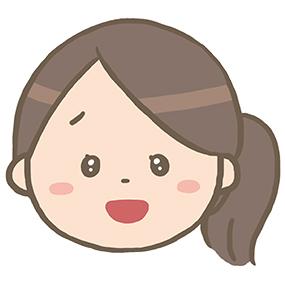 喜んでいる(感動している)看護師のイラスト※顔のみ