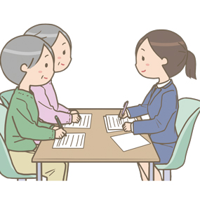 介護保険の認定調査のイラスト