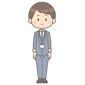 スーツ姿の男性社会福祉士のイラスト
