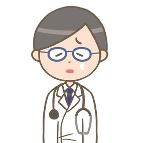 落ち込む男性医師のイラスト※上半身