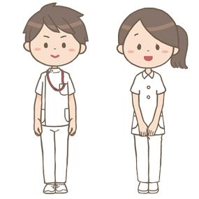 男女の看護師のイラスト