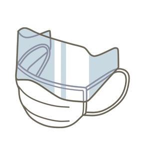 アイシールド付マスクのイラスト