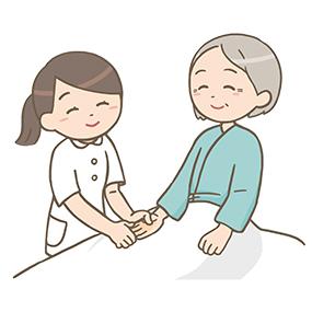 患者をマッサージする看護師のイラストフリー素材看護roo