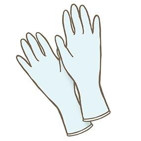 医療用手袋のイラスト