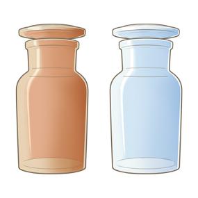 薬品瓶(薬瓶)のイラスト