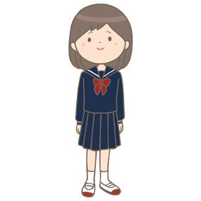 中学生女子のイラスト