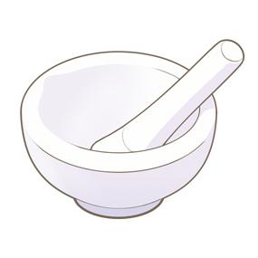 乳鉢と乳棒のイラスト