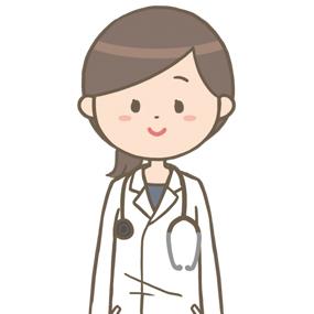 女性医師(ロングヘア)のイラスト※上半身