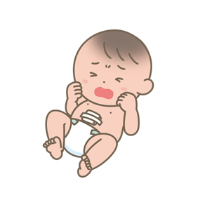 生まれたばかりの新生児のイラスト