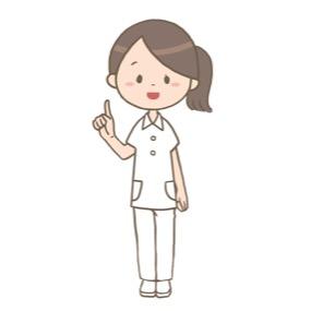 人差指を立てて説明する看護師のイラスト
