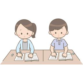 看護学生が勉強で悩んでいるイラストフリー素材看護rooカンゴルー