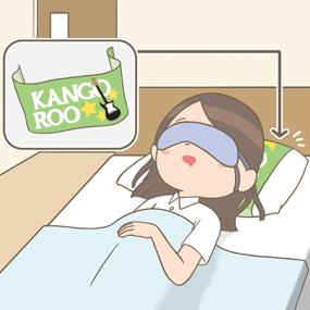 仮眠室の枕にマイタオルを巻いて寝る看護師のイラスト
