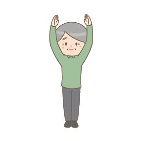 体操をする高齢男性のイラスト