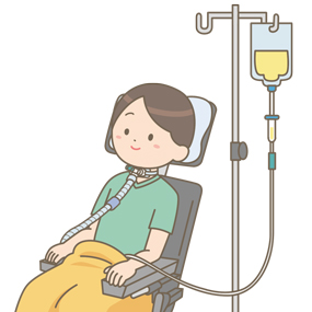 ALS(筋萎縮性側索硬化症)の患者のイラスト
