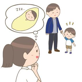 患児の成長を喜ぶ小児科看護師のイラスト