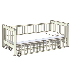 小児用のベッドのイラスト