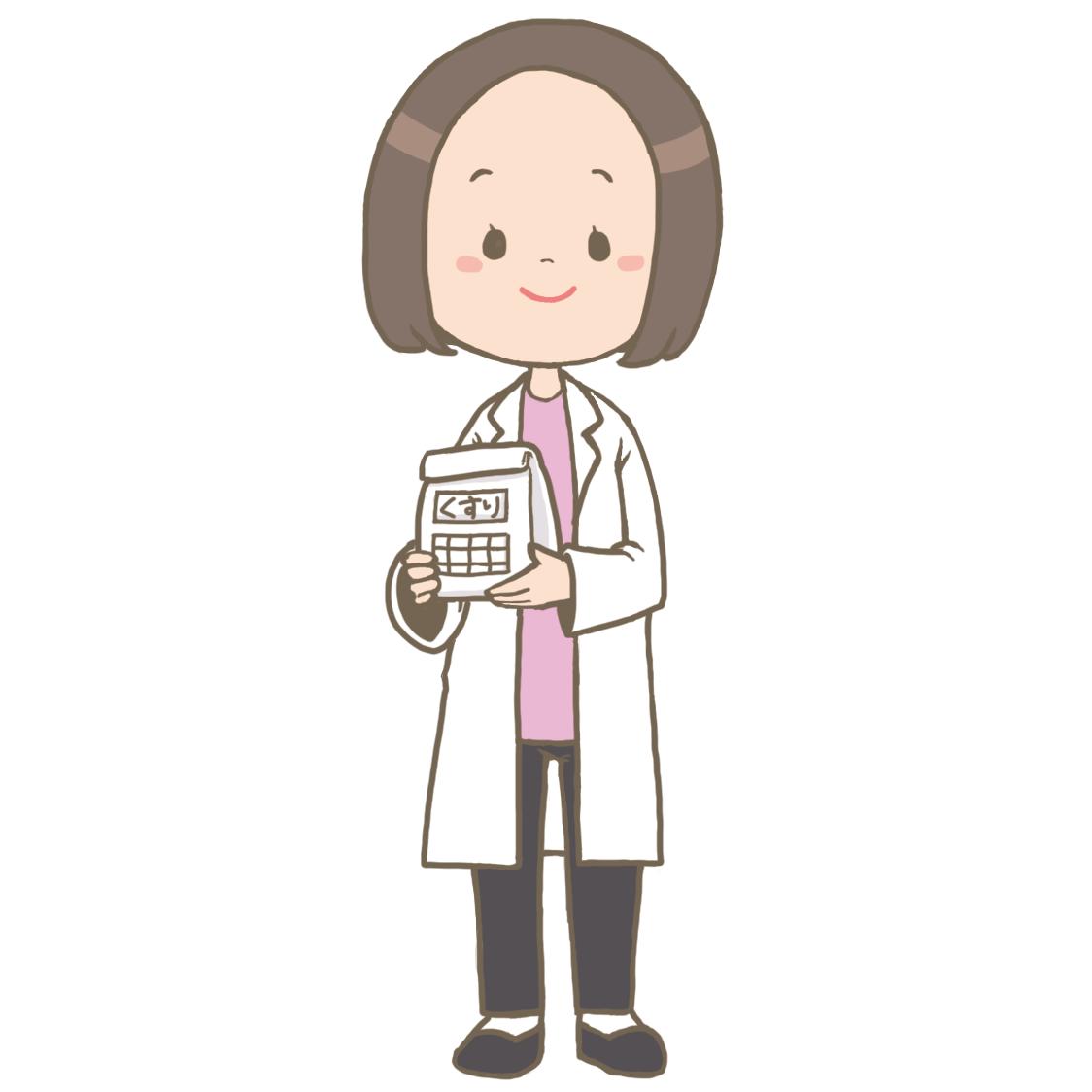受付にいる医療事務員(女性)のイラスト?【フリー素材】 看護roo