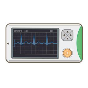 携帯用心電図モニターのイラスト