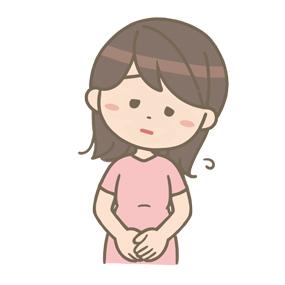 疲れた表情を浮かべる妊婦さんのイラスト
