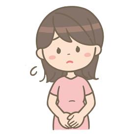 困った表情を浮かべる妊婦さんのイラスト