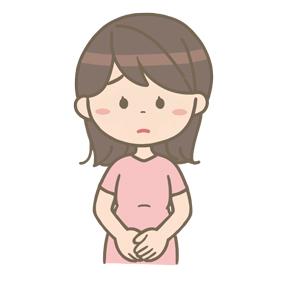 悲しい表情の妊婦さんのイラスト