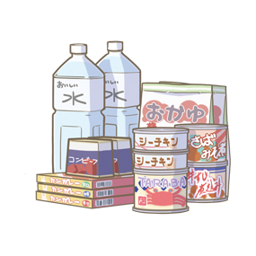 保存食のイラスト