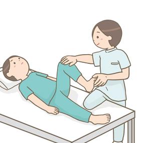 足の可動域の訓練のイラスト