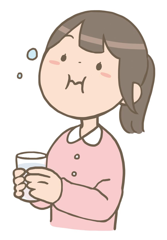 ブクブクうがいをする女の子のイラストフリー素材看護roo