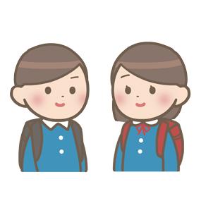 小学生の男女のイラスト
