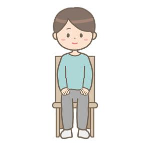 椅子に座ってリラックスをしている男性のイラスト