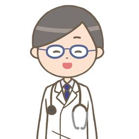 笑顔の男性医師のイラスト※上半身
