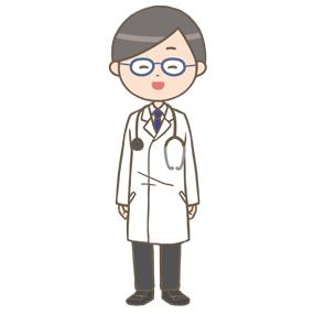 笑顔の男性医師のイラスト※全身
