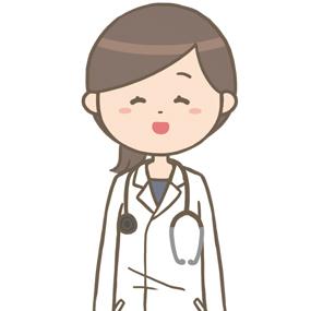 笑顔の女性医師(ロングヘア)のイラスト※上半身