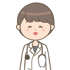 笑顔の女性医師のイラスト※上半身