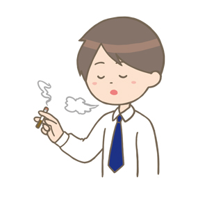タバコを吸う男性のイラスト